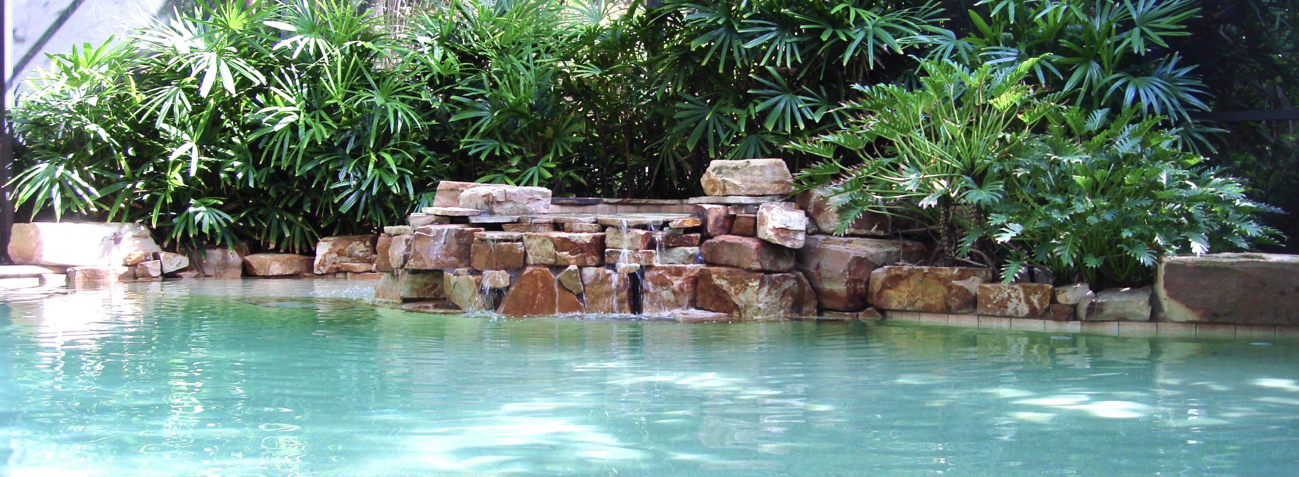 Rock Waterfall Swimming Pool